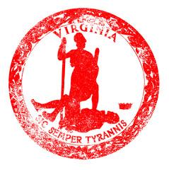 Virginia Seal Rubber Stamp