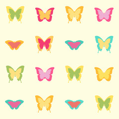 Seamless amazing vintage butterfly texture