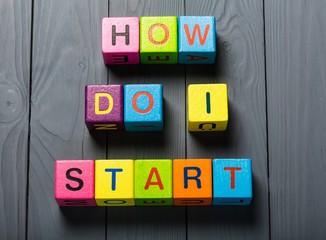 Entrepreneurship. How do I Start? card with a urban background