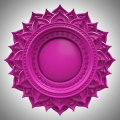 violet Sahasrara crown chakra base, abstract esoteric symbol