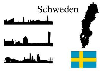 Städte in Schweden