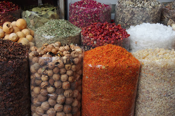 Spices and dry fruits in local bazar