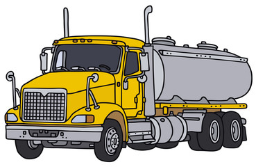 Hand drawing of an american tank truck