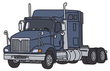 Hand drawing of a big american towing truck