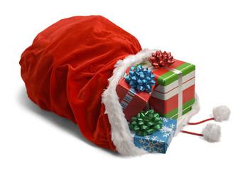 Spilled Santa Bag