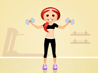weight lifting in the gym