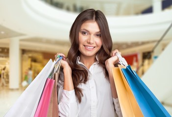 Summer. Shopping and tourism concept - woman with shopping bags