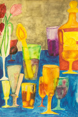 Cocktails, painting