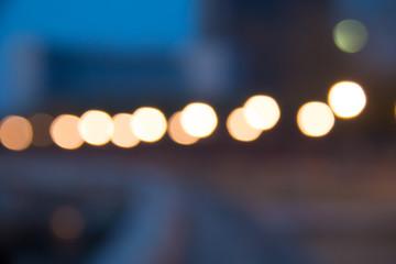 blurred lake night lights, defocused background