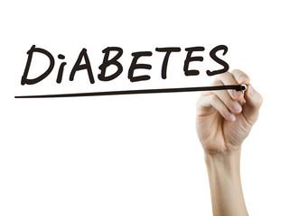 diabetes word written by hand