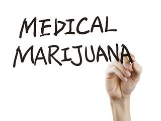 medical marijuana words written by hand
