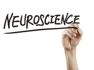 neuroscience word written by hand