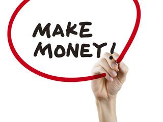 make money words written by hand