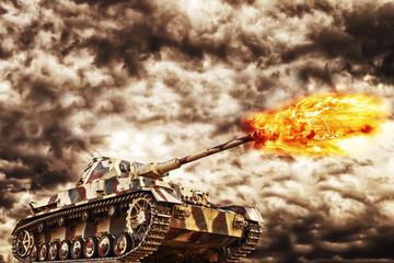 Military Tank Firing