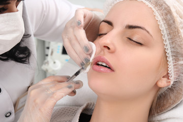 Rejuvenation procedure in beauty clinic