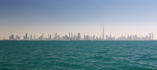 Skyline of Dubai (United Arab Emirates)