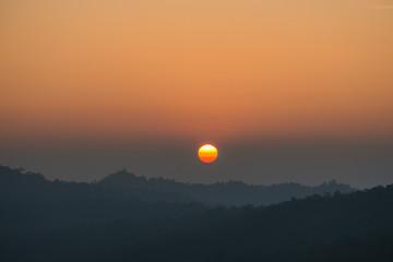Beautiful sunset scene.