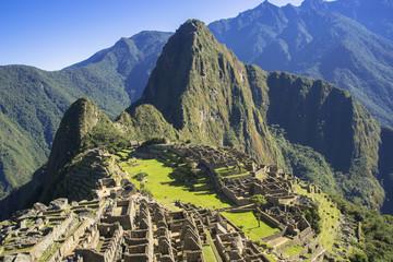 インカ帝国の古都マチュピュツ遺跡