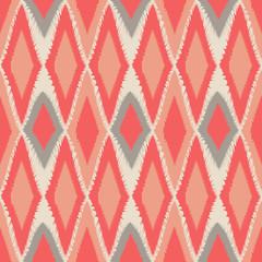 Abstract tribal art ethnic seamless Ikat pattern folk repeating