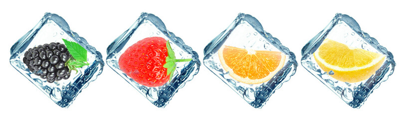 Printed kitchen splashbacks Fruits frozen fruit