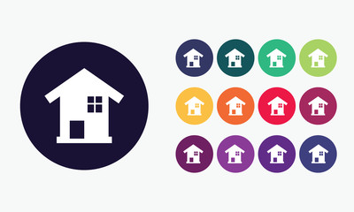 Home, house icon - real estate vector 4