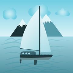 illustration of a sailing vessel