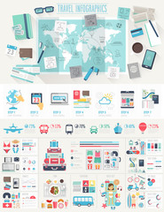 Wall Mural - Travel Infographic set
