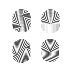 Fingerprints set vector illustration