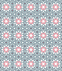 Ornamental pattern. Arabic seamless pattern.