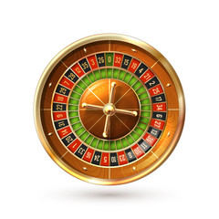 Roulette Wheel Isolated