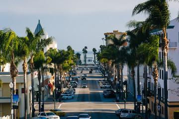 Wall Mural - View of California Street, in downtown Ventura, California.