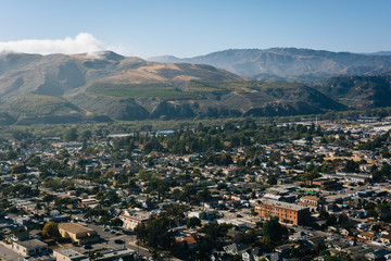 View of Ventura and distant mountains from Grant Park, in Ventur