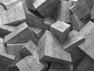 Beton 3D ŚCIANA Z BETONOWYCH SZEŚCIANÓW - EFEKT TRÓJWYMIARU