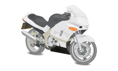 Jasny motocykl - wektor