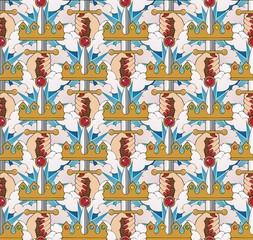 Ace of swords wallpaper pattern