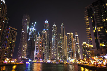 Dubai marina at twilight