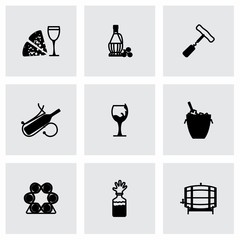 Vector Wine icon set