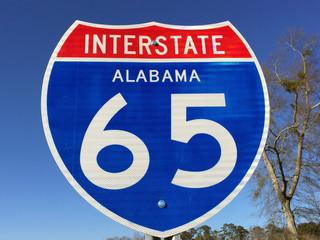 Highway sign for I-65 in Alabama