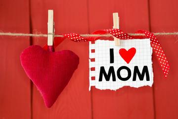 Message written I love mom