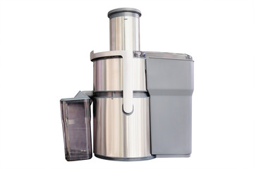 Electric juice extractor with plastic container
