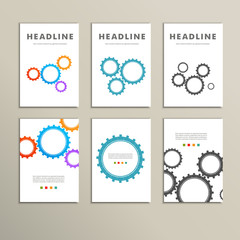 Set vector color design and concept gears