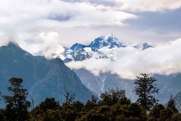 Mount Cook in Wolken