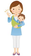 子育てする女性 ママ 表情ポーズ