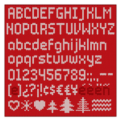 Knitted alphabet.