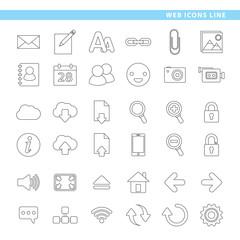 Web icons line.