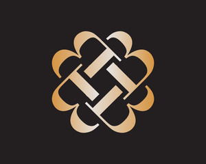 B luxury logo
