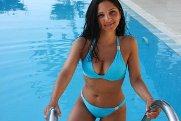 Blue Bikini Woman
