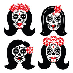 Mexican La Catrina - Day of the Dead girl skull