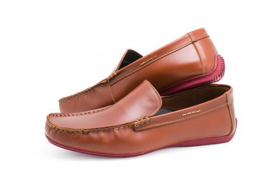 Brown man's shoes