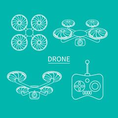 Drone outline white
